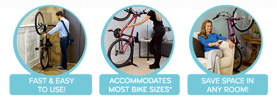 Fast & Easy, Accommodates Most Bikes, Save Space