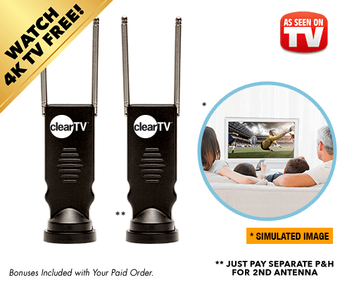 Double offer – buy one HD TV antenna, get one free – just pay p&h