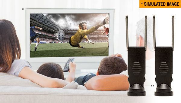 Digital indoor antenna lets you watch hundreds of free HD and digital TV channels with crystal-clear reception
