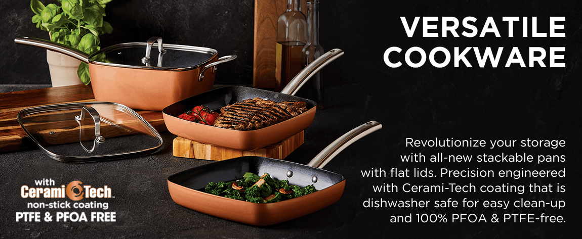 Multipurpose cookware with Cerami-Tech Non-Stick coating