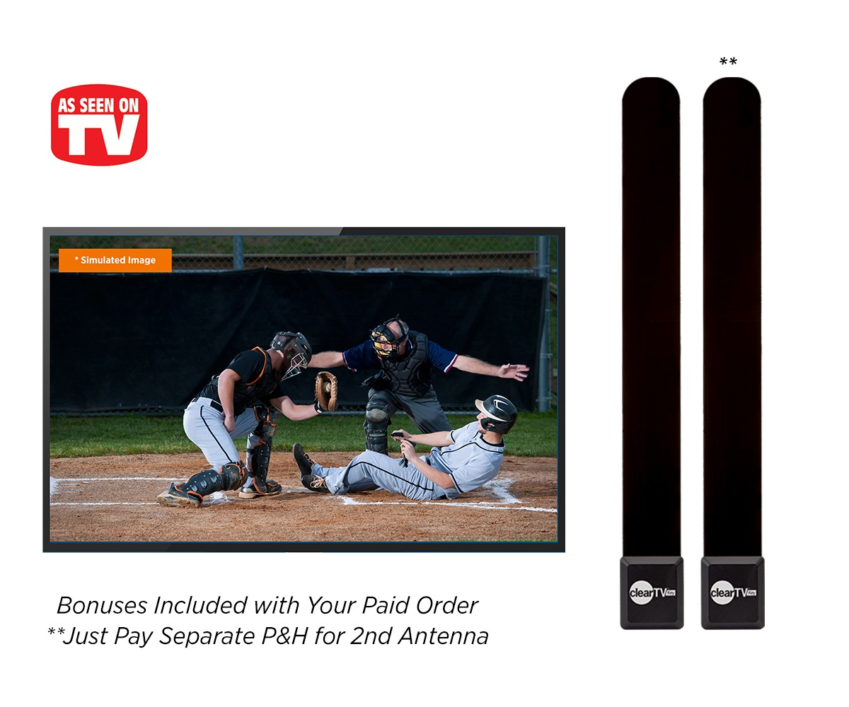 Double offer – get two HD antennas for the price of one – just pay p&h