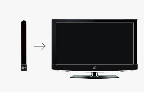 Snaps on discreetly to any flatscreen TV