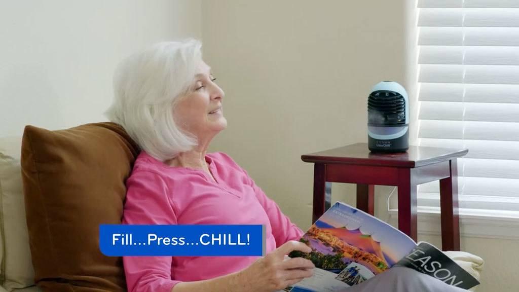 Woman enjoying the Zaahn Ultra Chill