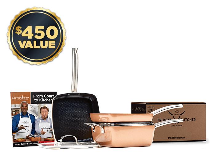 Copper Chef pots and pans set | Black Diamond collection | $450 value