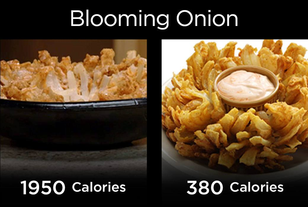 Blooming Onion in Air Fryer has 380 Calories vs. 1950 calories for deep fryer fast food