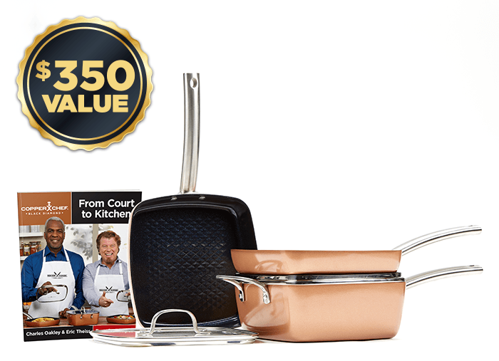 Special Offer | Buy direct and get entire 5-piece set with Copper Chef recipes