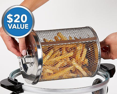 rotating fry basket