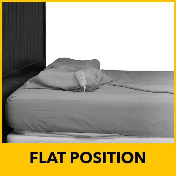 power bed in flat position
