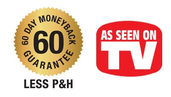 60-day money-back guarantee – as seen on TV