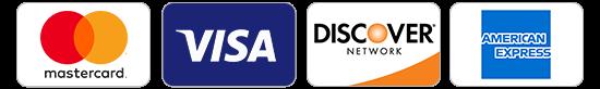 Mastercard – Visa –Discover –American Express