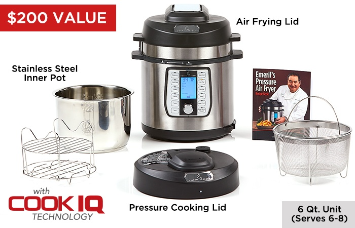 $200 Value Pressure Airfryer Set Includes all these
