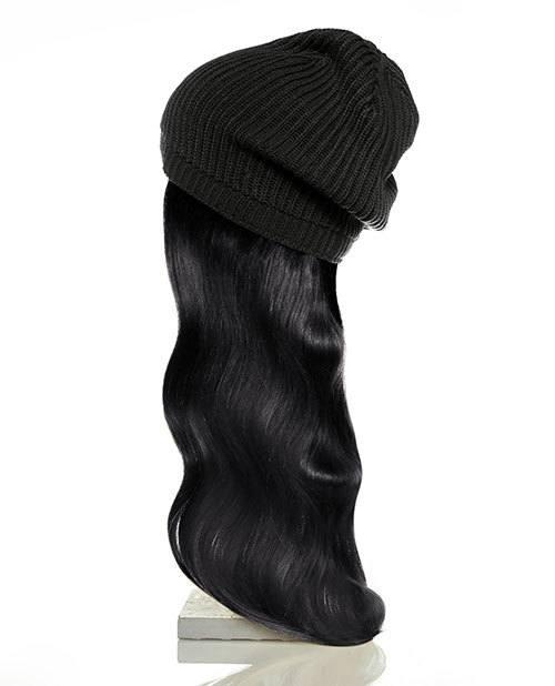 black hair black hat