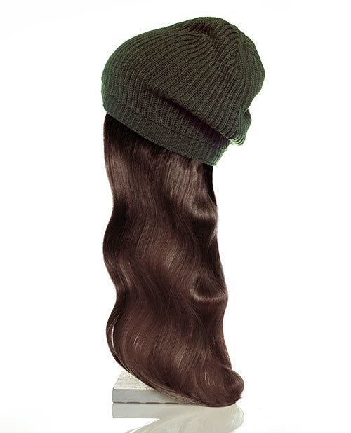green hat brown hair