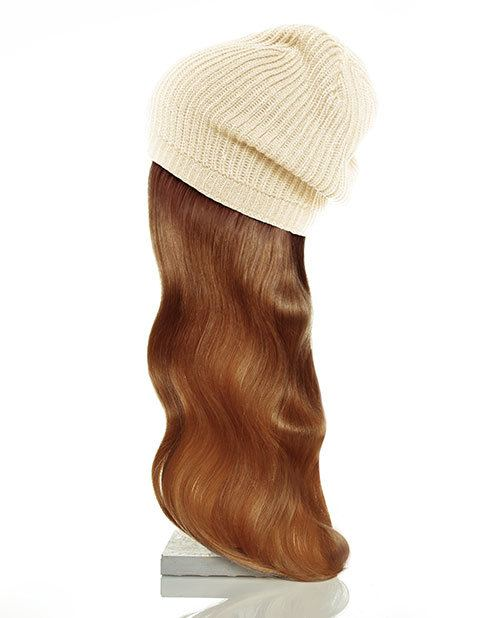 tan hat red hair