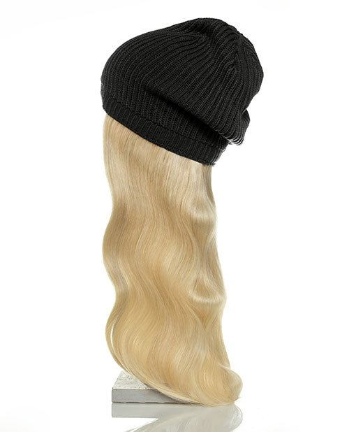 black hat blonde hair