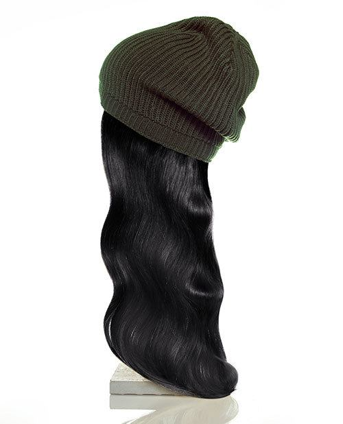 green hat black hair