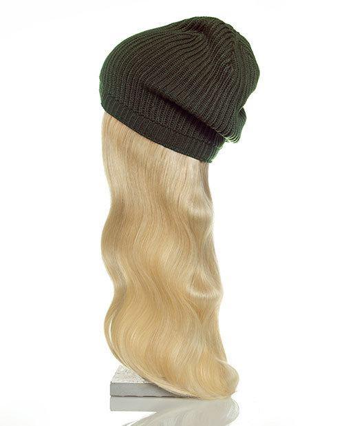 green hat blonde hair