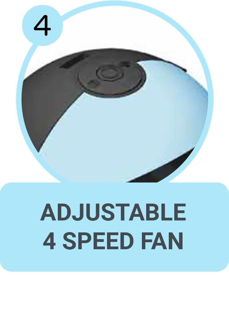Adjustable 4 Speed Fan