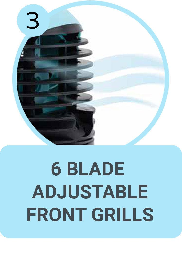 6 Blade Adjustable Front Grills