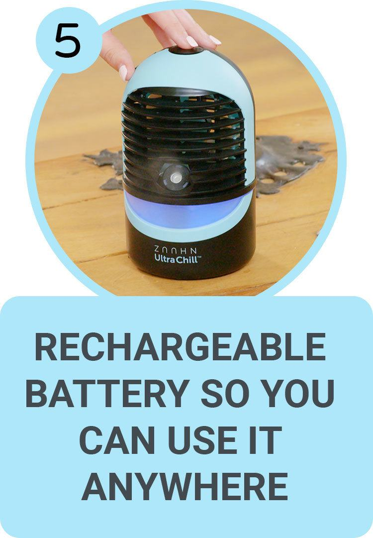 Rechargeable Battery so you can use it anywhere