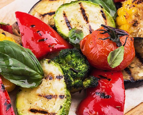Savor delicious grilled vegetables without added oil or fat