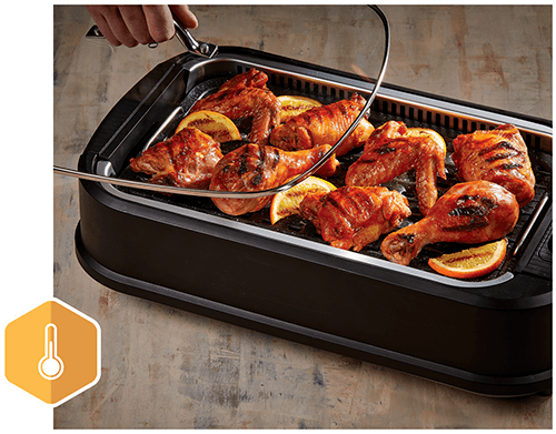 Rapid, Even Heating; Consistent Temperature; Family-Sized Grill and Griddle Surface
