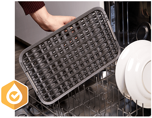 Grill and Griddle Plates are Removable and Dishwasher Safe for Easy Clean-Up