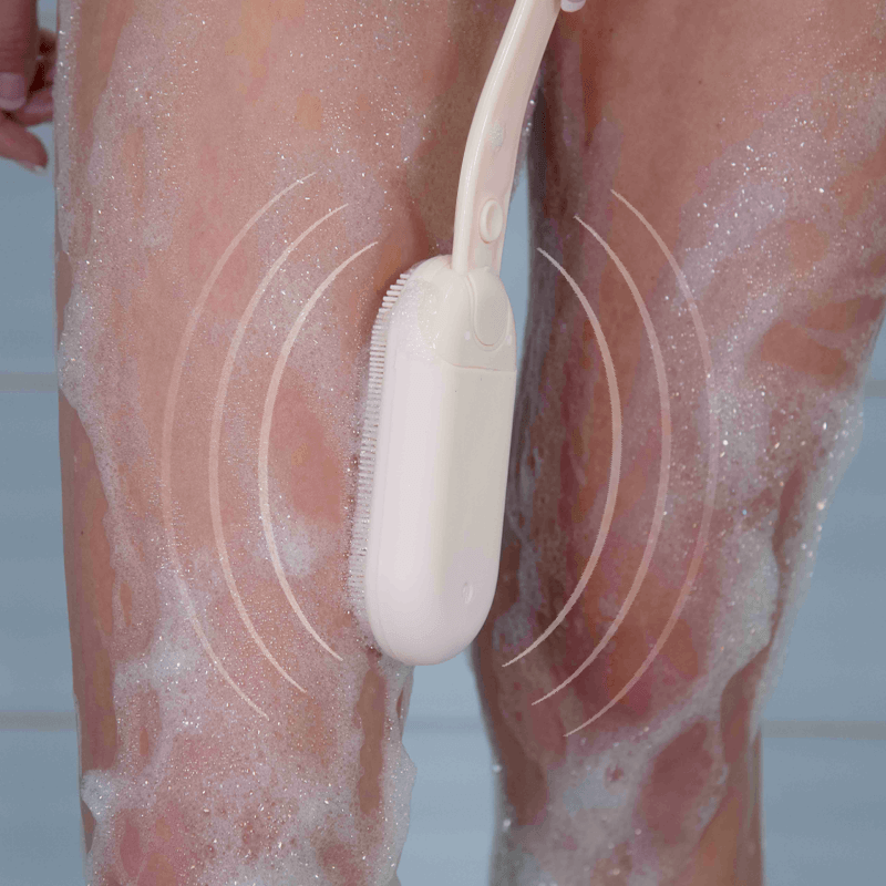 Wash hard-to-reach areas easily