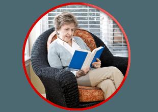 senior woman living alone