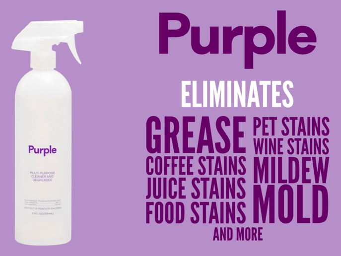 Purple multipurpose cleaner