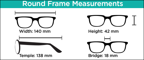 Round Readers Measurements