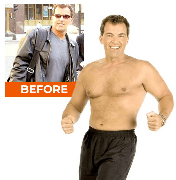 before & after: muscular man