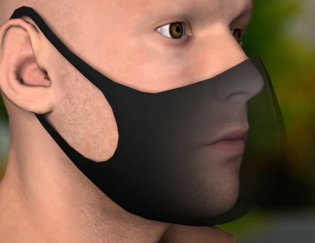 man wearing mask with double layer barrier
