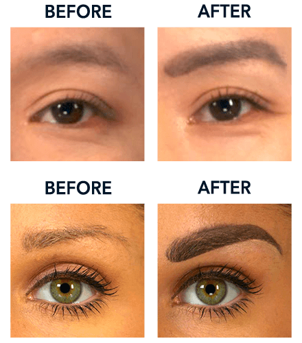 Before and After Designer Brows - Glamorous