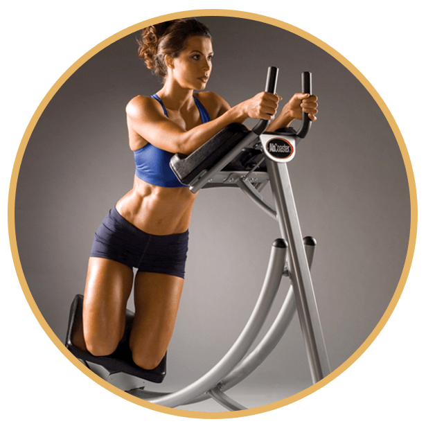 woman doing side lift motion on ab coaster