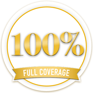100% Full Coverage Badge
