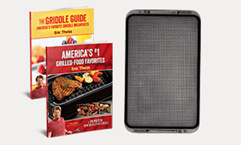 Removable Griddle Plate with Grill Recipe Book & Griddle Recipe Book