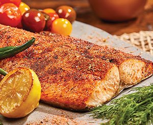 Broil salmon and fish in Emeril's hot air fryer