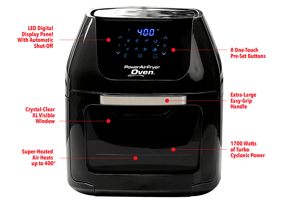 Oven Features Power Airfryer Oven