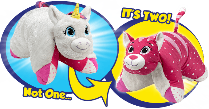 8b6021d77d13 2 Sides of Fun! Fluffy Toy to a Comfy Pillow!